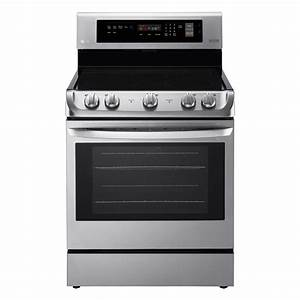 Lg Lre4211st 6 3 Cu  Ft  Electric Double Convection Oven Range  U2013 Stainless Steel