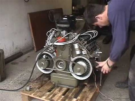 Air Cooled V8 by Vzduchem Chlazen 253 Motor Tatra 603 V8 Air Cooled Engine