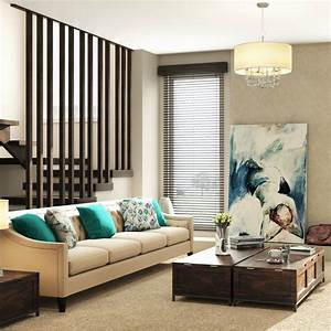 A, Neutral, Toned, Living, Room, Contrasted, By, Pops, Of
