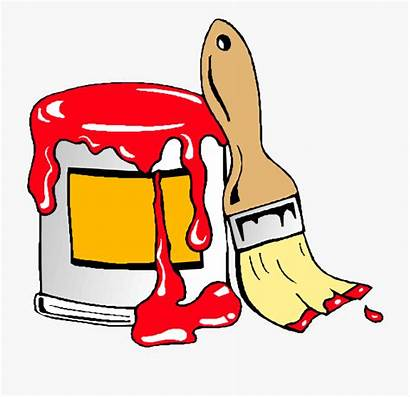 Paint Painting Cartoon Clip Clipart Cans Brush