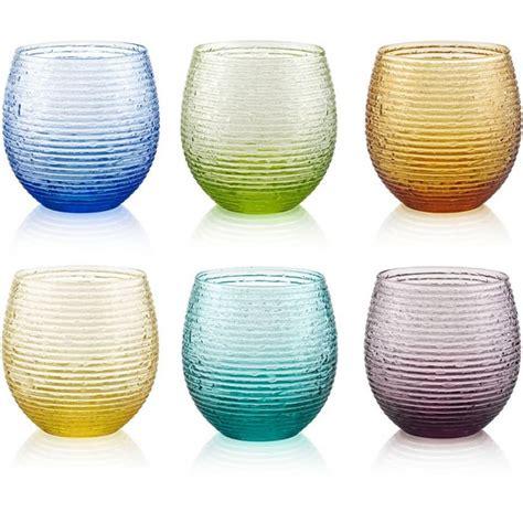 bicchieri acqua colorati set 6 bicchieri acqua colorati speedy ivv domustore