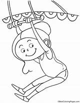 Trapeze Artist Coloring Pages Circus Bestcoloringpages Template Cartoon Acrobat Sheets sketch template