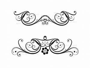 Flourish Clip Art Vintage Flower Clipart Designs for DIY ...