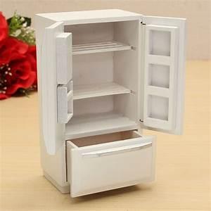 1 12 Wooden Dollhouse Miniature Furniture Kitchen Fridge