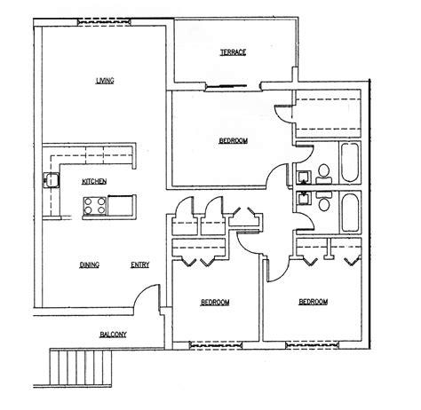 3 bedroom floor plan 3 bedroom house plans home design ideas