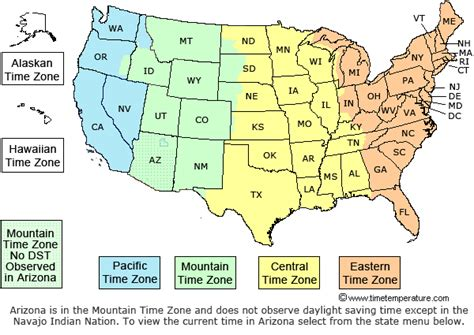 united states time zone map sunset learning institute