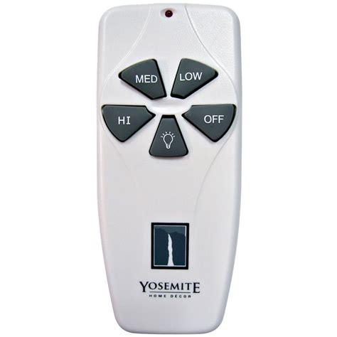 Yosemite Home Decor Universal Remote Control And Receiver