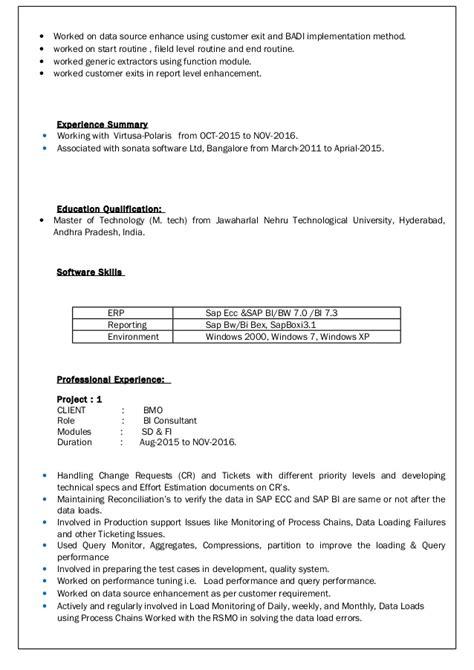 Abap Resume India by Suresh Resume Bi Abap