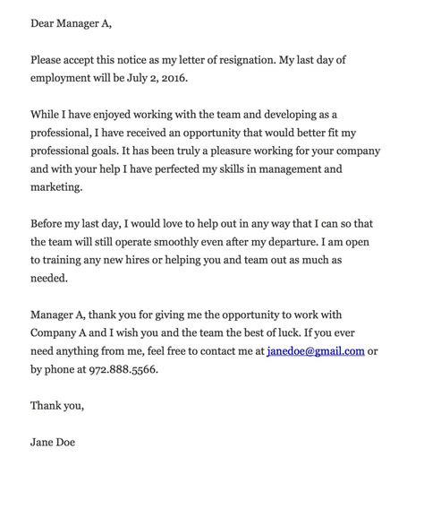 key  writing  resignation letter career builder