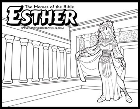 heroes   bible coloring pages esther
