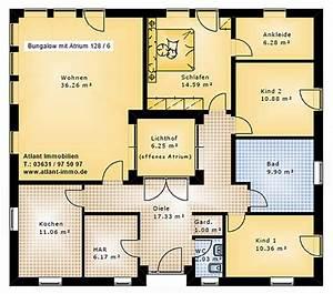 Atrium Bungalow Grundrisse : atrium bungalow 128 6 mit lichthof einfamilienhaus neubau massivhaus stein auf stein ~ Bigdaddyawards.com Haus und Dekorationen