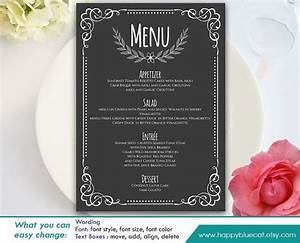Restaurant Menu Templates Word