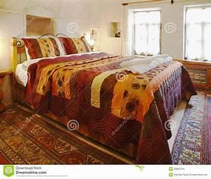 Interior, Design, Cave, Bedroom, Multi, Colored, Bedding, Stock, Image