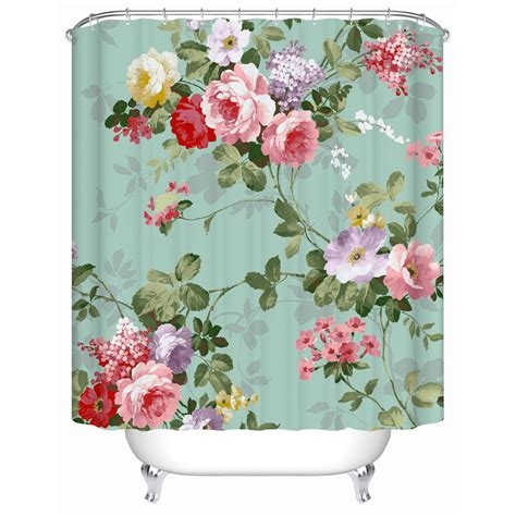 shower curtains a variety of colors of flowers eco