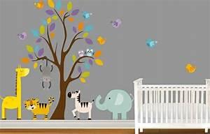 Babyzimmer wandgestaltung 15 wanddeko ideen mit tieren for Babyzimmer wandgestaltung ideen