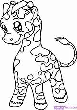 Coloring Pages Giraffes Giraffe Printable Creativity Develop Recognition Ages Skills Focus Motor Way Fun sketch template