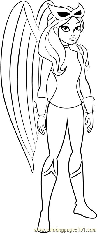 hawkgirl coloring page  kids  dc super hero girls printable coloring pages