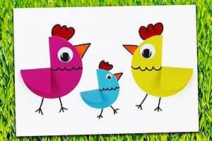 Bricolage Facile En Papier : poules de p ques en papier bricolage facile p ques ~ Mglfilm.com Idées de Décoration