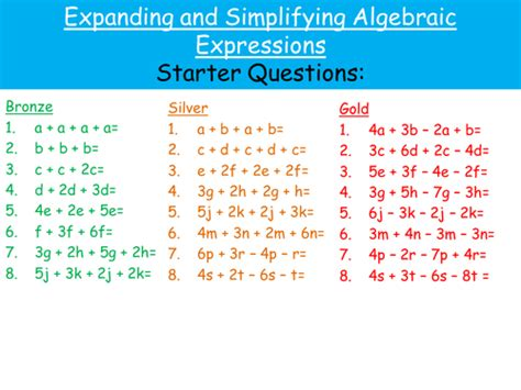 simplifying algebra worksheet and answers all worksheets 187 expanding and simplifying algebraic