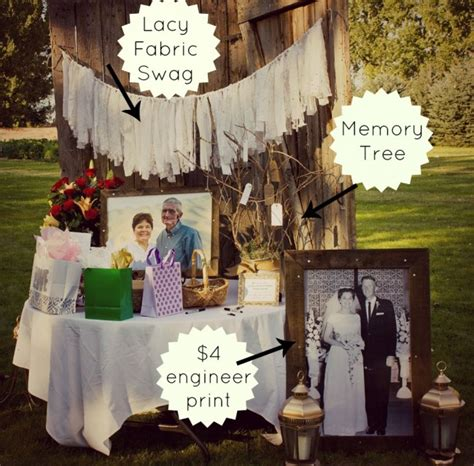 diy 50th wedding anniversary from salty bison