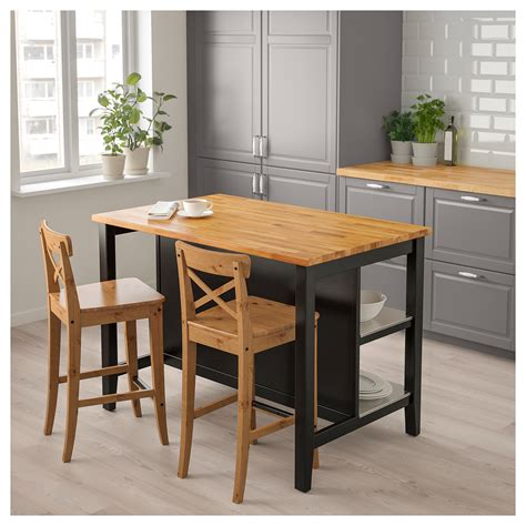 island for kitchen ikea stenstorp kitchen island black brown oak 126x79 cm ikea