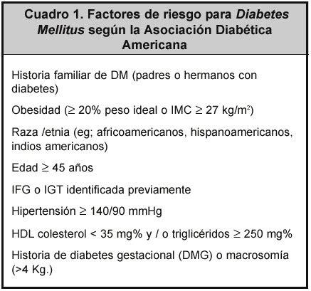tamizaje de diabetes mellitus tipo  en atencion primaria