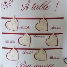 nom de table mariage créations plan de table de mariage uniques a market