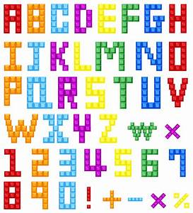 quality graphic resources colored block alphabet With colored letter blocks