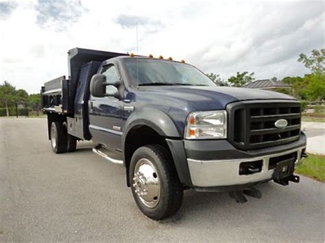 2006 Ford Truck by Purchase Used 2006 Ford F550 F450 Diesel 4x4 Dump Truck