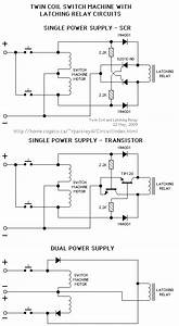 Twin Coil Switch Machine With Latching Relay - Control Circuit - Circuit Diagram