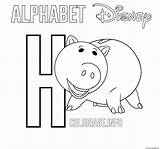 Toy Hamm Coloring Coloriage Printable Lettre sketch template
