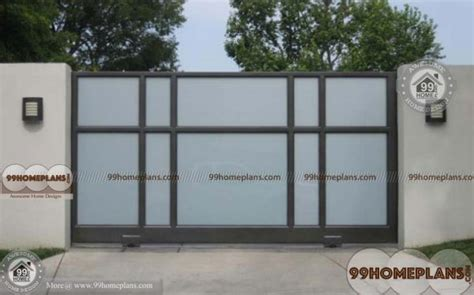 simple gate designs ideas with latest sliding type gates