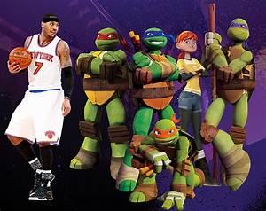 Carmelo Teams Up With The Teenage Mutant Ninja Turtles