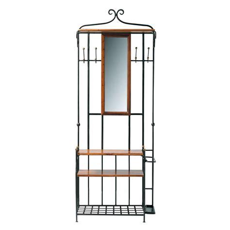 mobile da ingresso in massello di legno di sheesham con specchio l 83 cm lub 233 maisons du monde