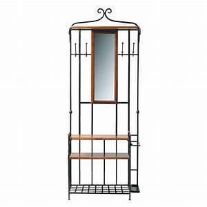 meuble d39entree avec miroir en bois de sheesham massif l With porte d entrée alu avec meuble salle de bain retro chic