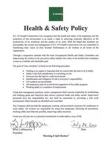 Construction Safety and Health Policy