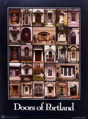 door of portland doors of portland oregon poster prints