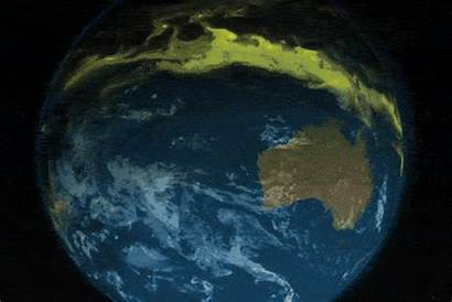 Ozone Layer Animation Moving Showing Atmosphere Recovery