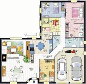 Maison Plain Pied En L : maison en l maison mobilier jardin ~ Melissatoandfro.com Idées de Décoration