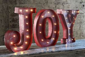 joy gone missing simply for one With lighted letters joy