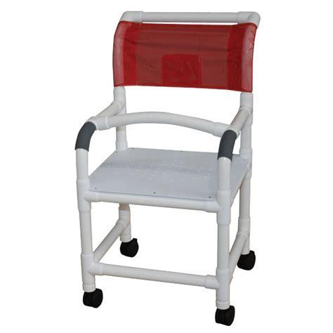 pvc shower chair 18 5x1 1 4 heavy duty casters flatstock