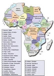 Africa Map Countries and Capitals List