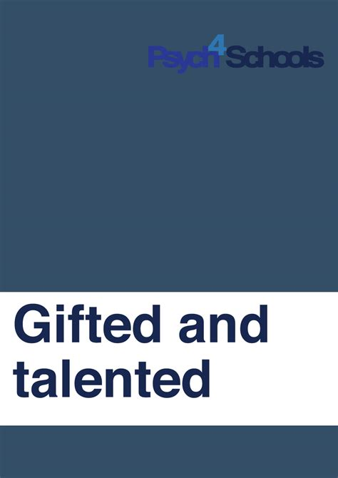 gifted  talented  resources psychschools