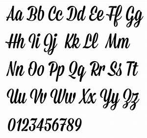 mission script typeface alphabet by james edmondson With pictures of script letters
