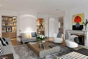 Photo Deco Salon : appartement haussmannien quai de sa ne lyon jorge grasso c t maison ~ Melissatoandfro.com Idées de Décoration