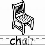 Chair Coloring Teach Abc Pages Wecoloringpage Colouring Read sketch template