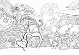 Adventure Poster Coloring Sketchbook Lineart Zombie Jake Inks sketch template