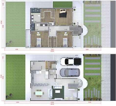 small modern townhouse plan plans  houses models  facades  houses