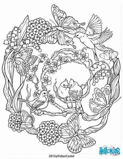 Coloring Mandala Nature Pages Patterns Natural Adult