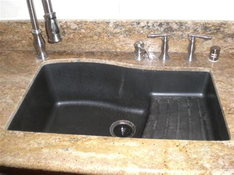 granite kitchen sinks swanstone qzad 3322 077 33 inch by 22 inch drop in ascend